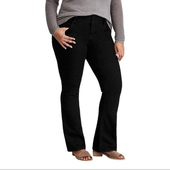 Torrid Boot Cut Jeans Black Stretch High Rise